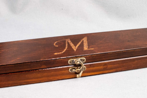 CARVING SERVICE | Personalise your real wood wand or wooden case with hand carved designs or initials |