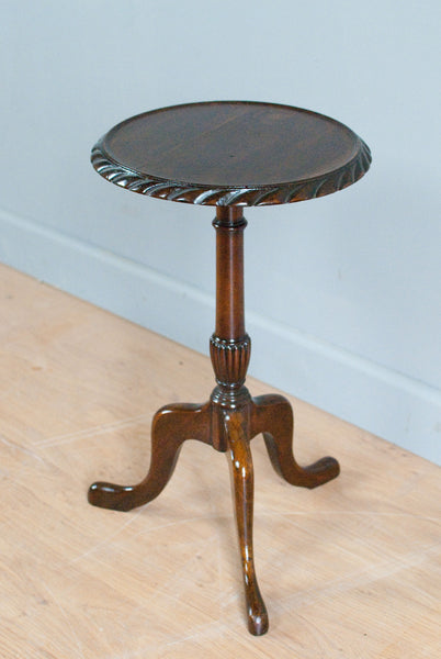 Small Mahogany occasional table or wine table, on tripod feet with a Pie Crust rim