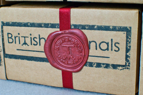 RECTANGULAR WAND DISPLAY / GIFT BOX, RECYCLED CARD, AUTHENTIC WAX SEAL