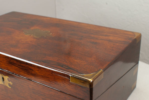 Antique Rosewood & Brass, Wand display & presentation box - c 150 years old.