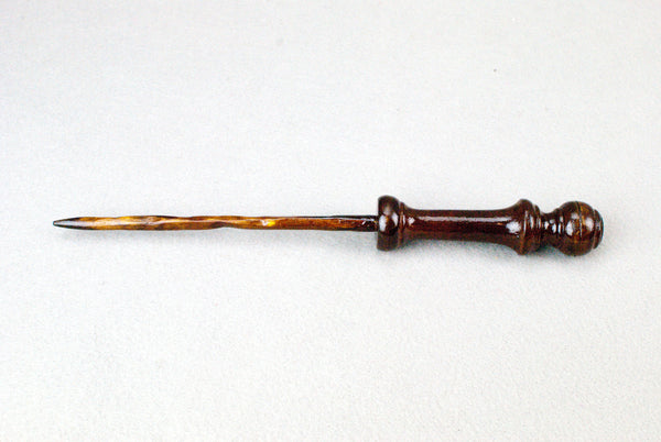 11 1/2 Inch Mahogany, Wooden Wand,  | Unique design, made by hand |