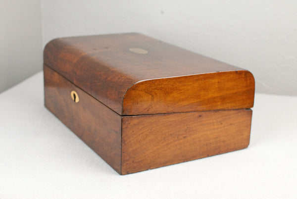 Antique Mahogany Wand display & presentation box with brass inserts