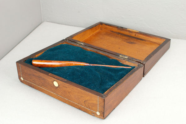 Antique Mahogany & Mother of Pearl Wand display & presentation box