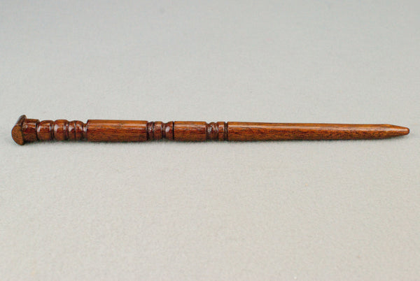 10 1/8th Inch Mahogany, Real Wooden Wand,  | Unique design, made by hand |