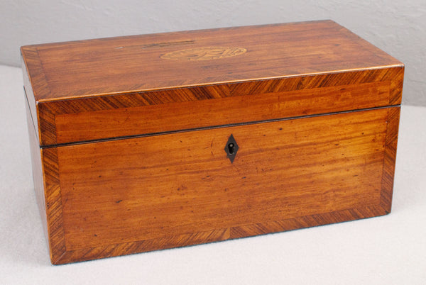 Antique Inlay & Mahogany Wand display & presentation box c 150 years old.
