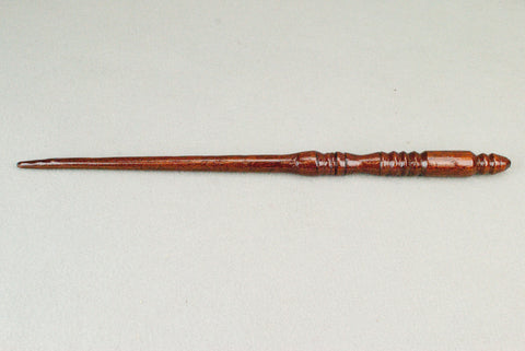 15 1/4 Inch Mahogany Real Wooden Wand,  | Unique design, made by hand |