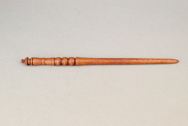13 & 1/8th Inch Mahogany, Real wood Wand  | Handmade & Unique |