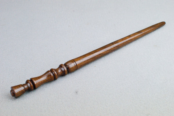 12 5/8ths Inch Walnut, Real wood Wand  | Handmade & Unique |