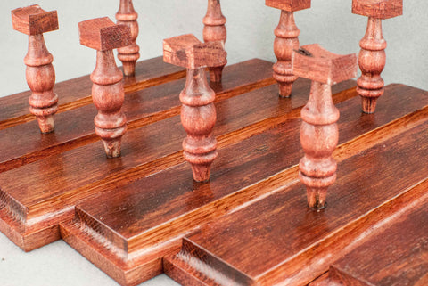 WAND DISPLAY STAND | 180 YEAR OLD ENGLISH OAK | HANDMADE | RED TONE