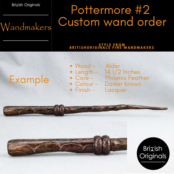 Pottermore Wand #2 Style | Your digital design, made real | Custom Wand | Handmade