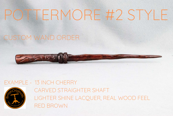 CUSTOM WAND ORDER | POTTERMORE #2 STYLE WAND | HANDMADE IN REAL WOOD |