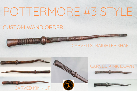 CUSTOM WAND ORDER | POTTERMORE #3 STYLE WAND | HANDMADE IN REAL WOOD |