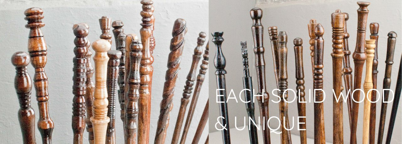 Pottermore custom made real wood wands