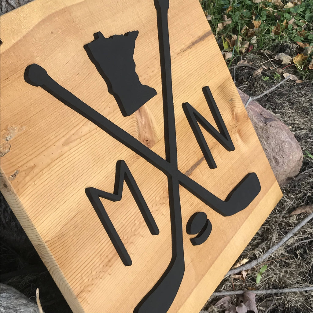 MN Hockey Sign - Cave Market Artisan Home Goods and Furniture