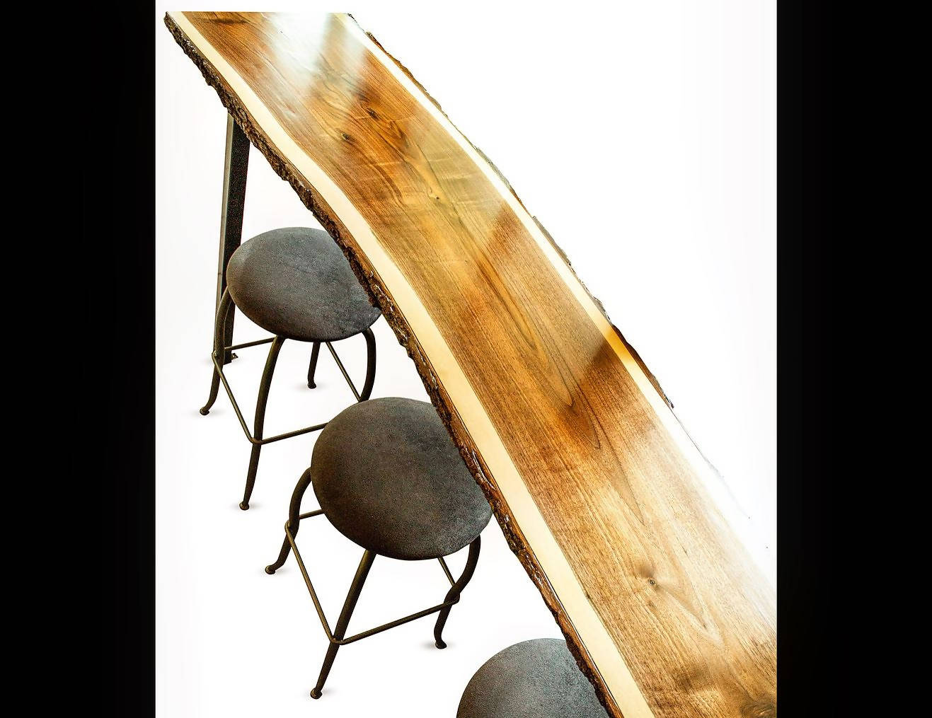 Custom Order Live Edge Bar-Height and Sofa Tables - Cave Market Artisan Home Goods and Furniture