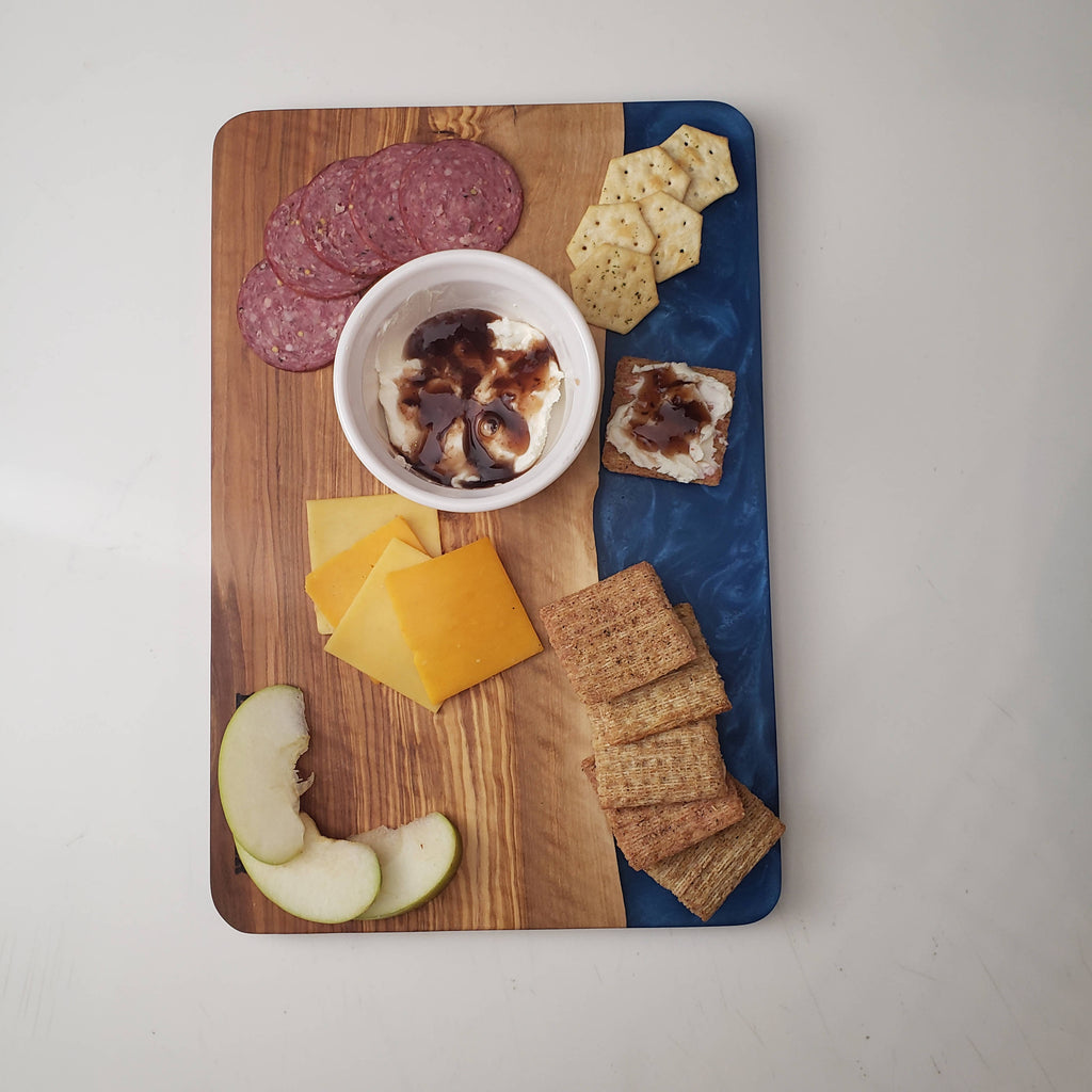 Blue Wonder Olive Wood Cheese / Serving Board