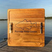 Custom Personalized Teak Cutting Board with Epoxy Inlay - Cave Market Artisan Home Goods and Furniture