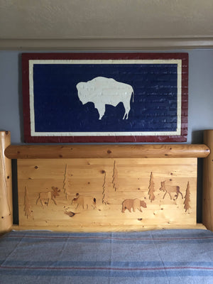 60x32 Wyoming Rustic Flag - Cave Market Artisan Home Goods and Furniture