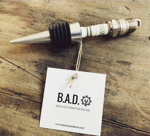 Spark Plug Bottle Stopper - Cave Market Artisan Home Goods and Furniture