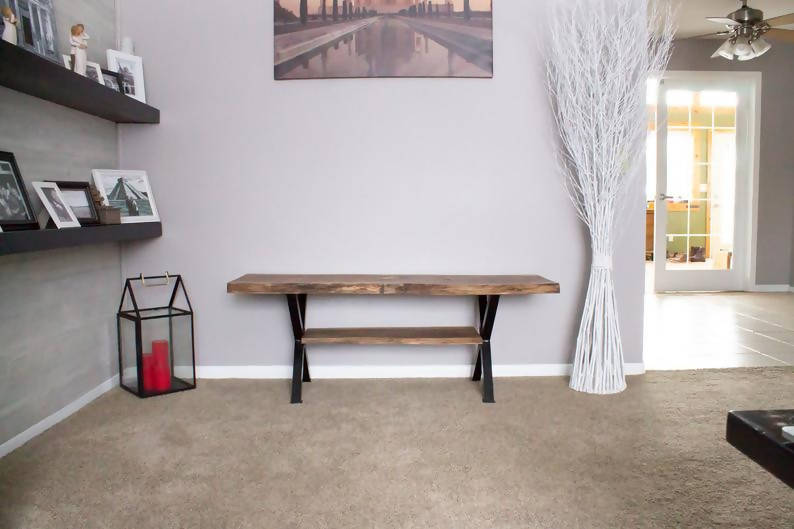 Black Walnut Live Edge Bench - Cave Market Artisan Home Goods and Furniture