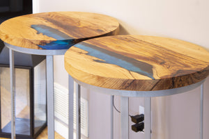 Wireless Charging River End Table Set - Tables Pictured Are Sold