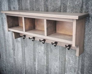 Hardwood Shelf Cubby - Cave Market Artisan Home Goods and Furniture