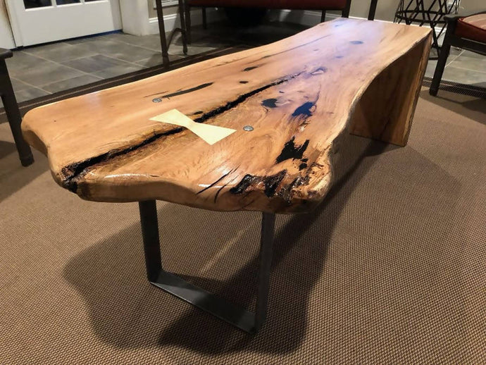 CUSTOM - Live Edge Waterfall Coffee Tables - Cave Market