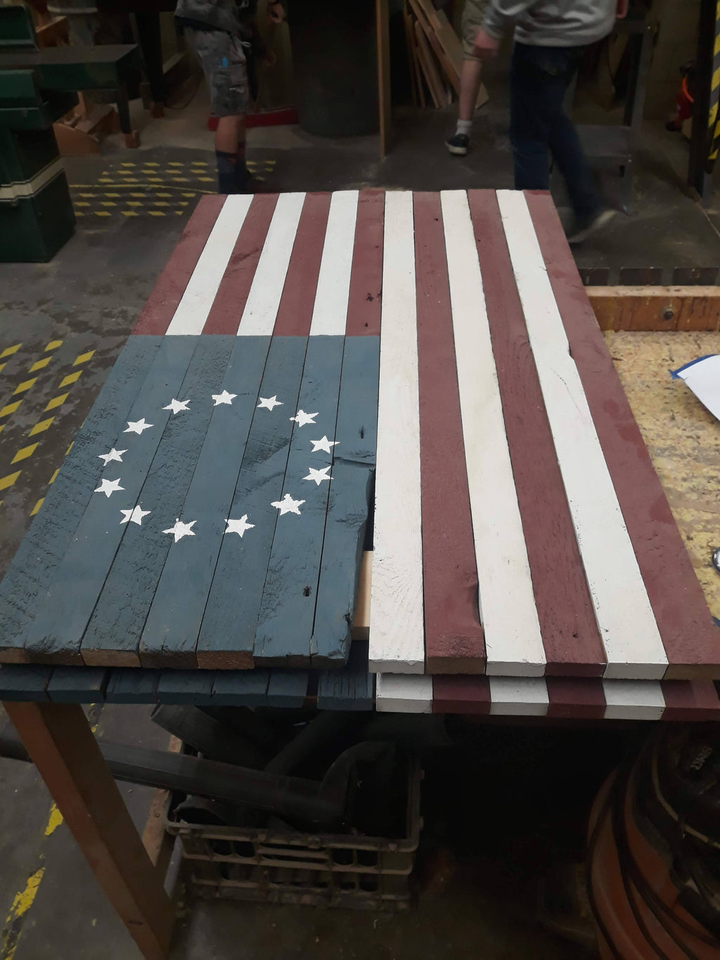 Rustic American Flag (Wooden) - Cave Market Artisan Home Goods and Furniture