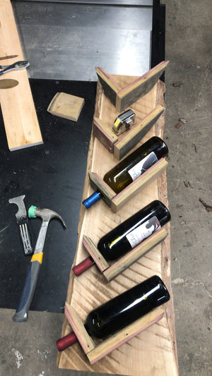 Live Edge Wine Rack - Cave Market Artisan Home Goods and Furniture