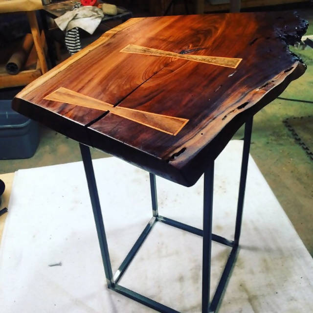Live edge side table
