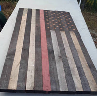 Red Line Flag (Burnt) - Cave Market Artisan Home Goods and Furniture