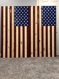 60x32 USA Rustic Flag - Cave Market Artisan Home Goods and Furniture