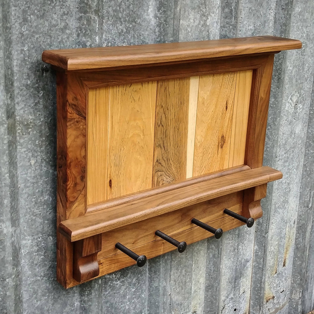 Walnut & hickory entry rack - Cave Market Artisan Home Goods and Furniture