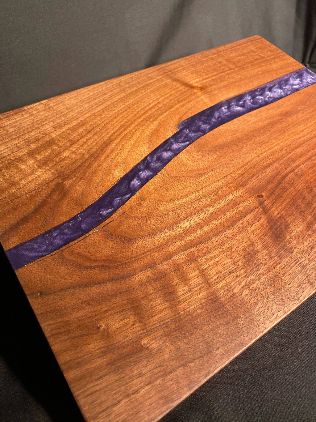Metallic Purple Split Walnut Charcuterie Board
