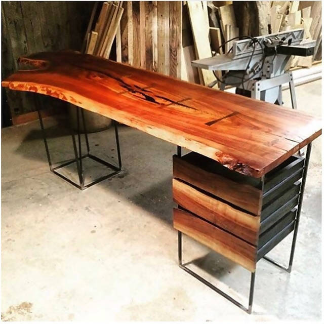 Live edge office desk