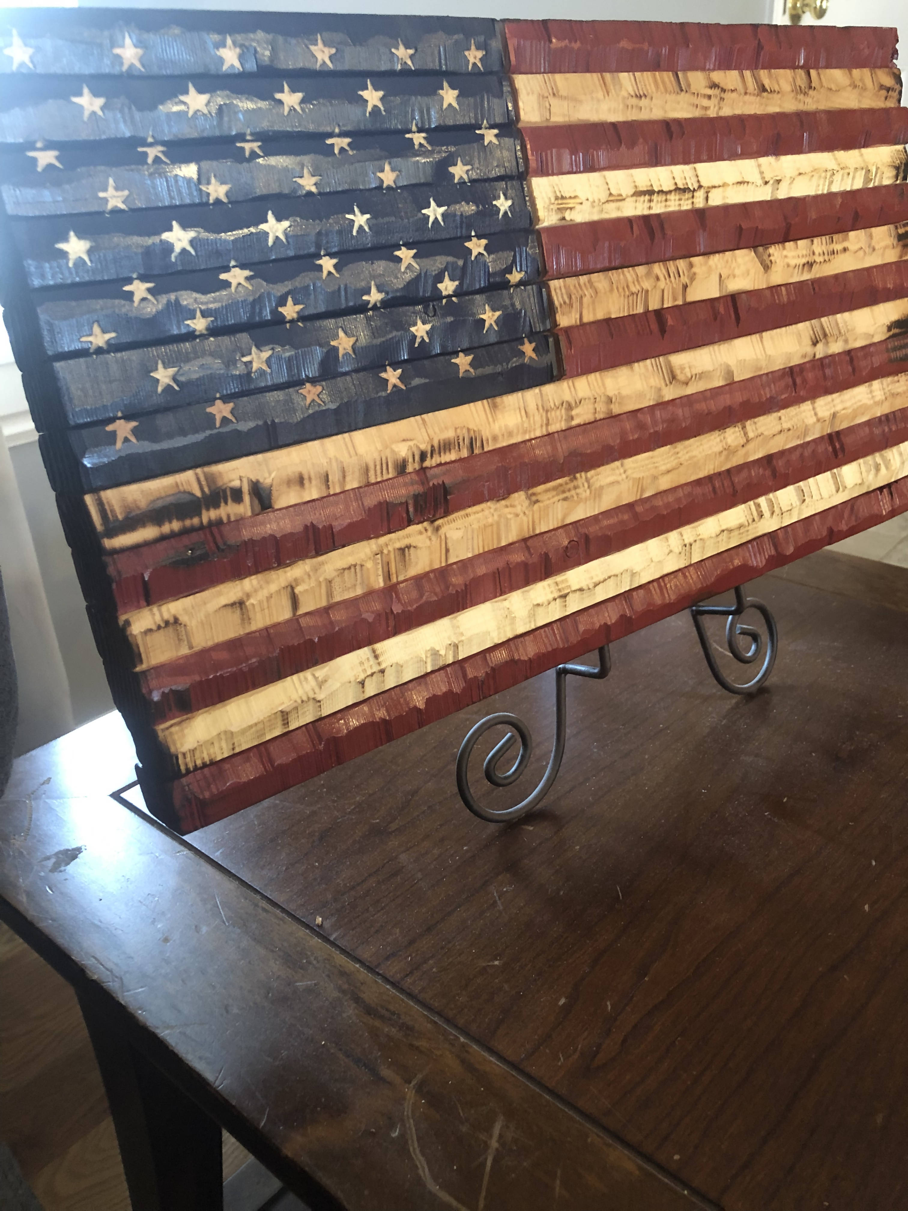 18x9.75 USA flag - Cave Market Artisan Home Goods and Furniture