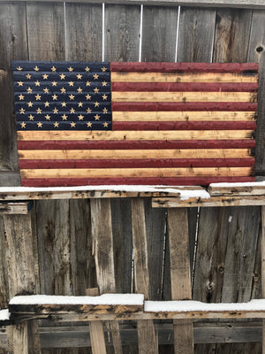 38x20 USA rustic flag. - Cave Market Artisan Home Goods and Furniture