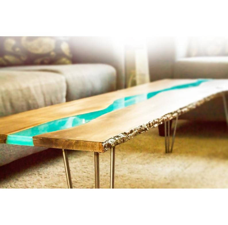 Basswood Blue River Coffee Table - Cave Market Artisan Home Goods and Furniture