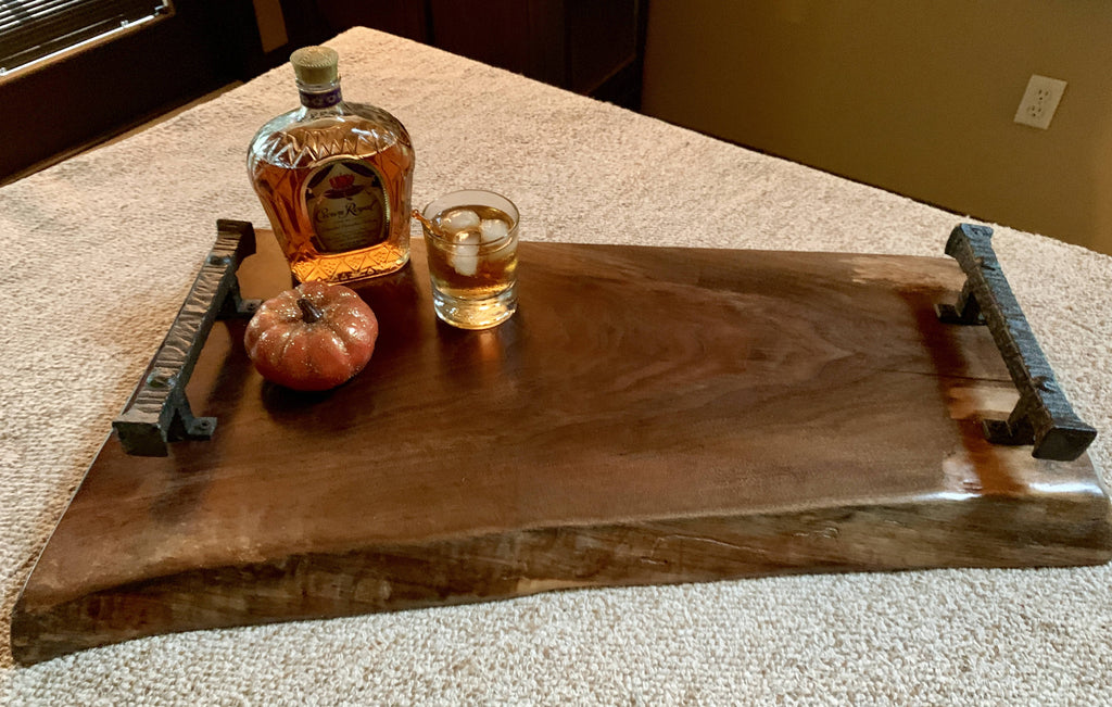 Live Edge Walnut Tray - Cave Market Artisan Home Goods and Furniture