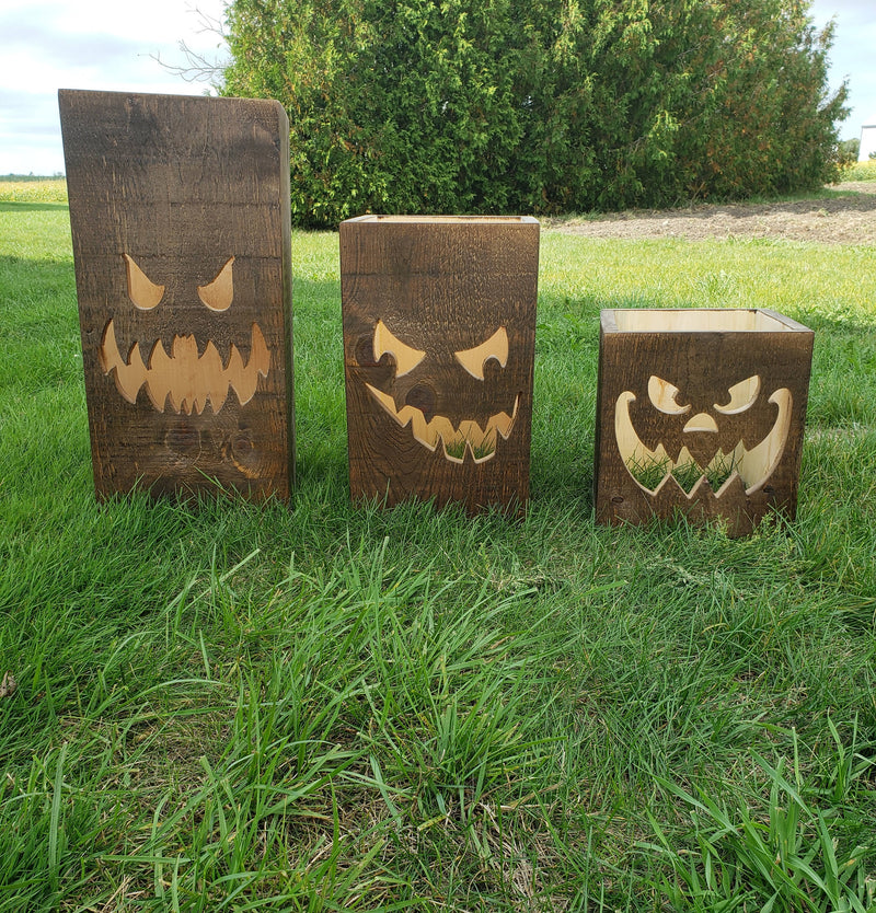 Wooden Pumpkin Boxes - Cave Market Artisan Home Goods and Furniture