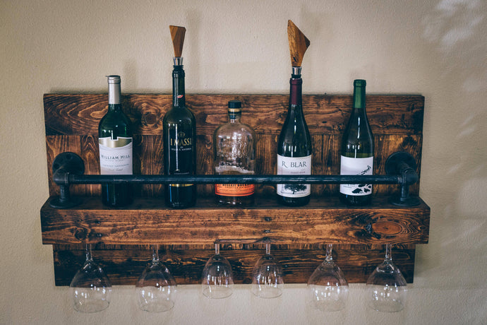 The rustic industrial Wine Rack - Cave Market