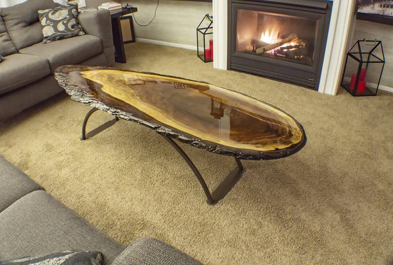 2-Sided Black Walnut Coffee Table - Cave Market Artisan Home Goods and Furniture