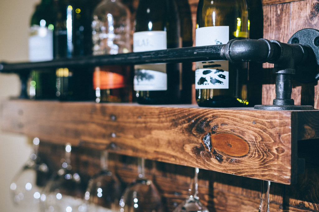 The rustic industrial Wine Rack - Cave Market Artisan Home Goods and Furniture