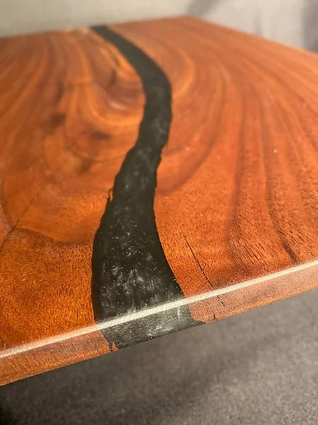 Black Onyx Split Walnut Charcuterie Board