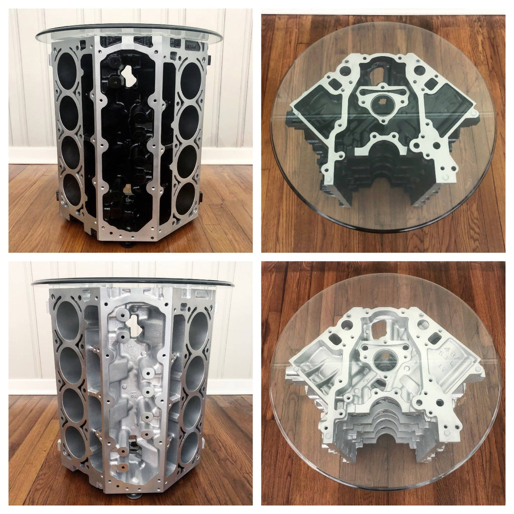 V8 Engine Block End Tables - Cave Market Artisan Home Goods and Furniture