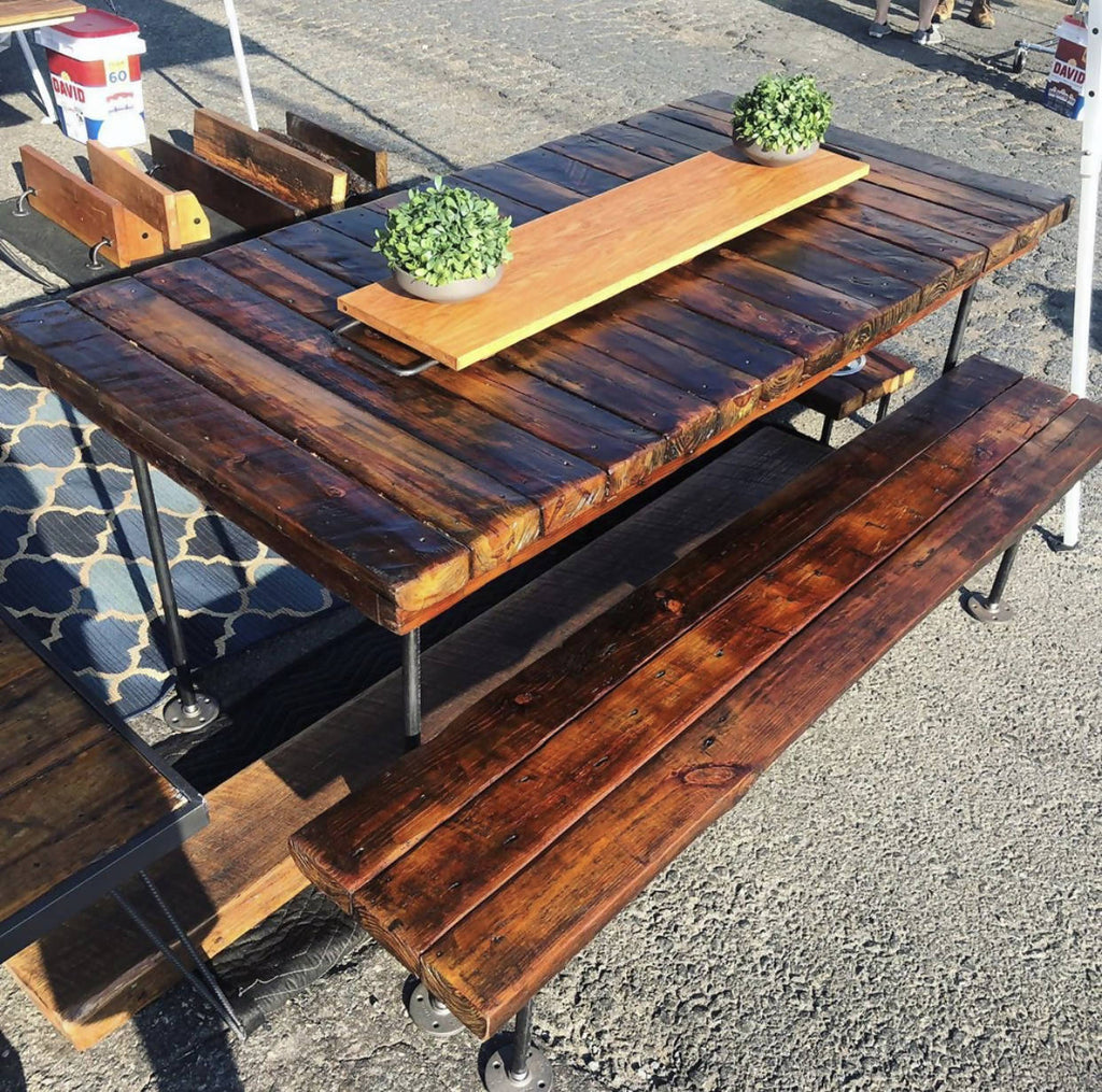 Reclaimed Outdoor 6-Person+ Table - Cave Market Artisan Home Goods and Furniture