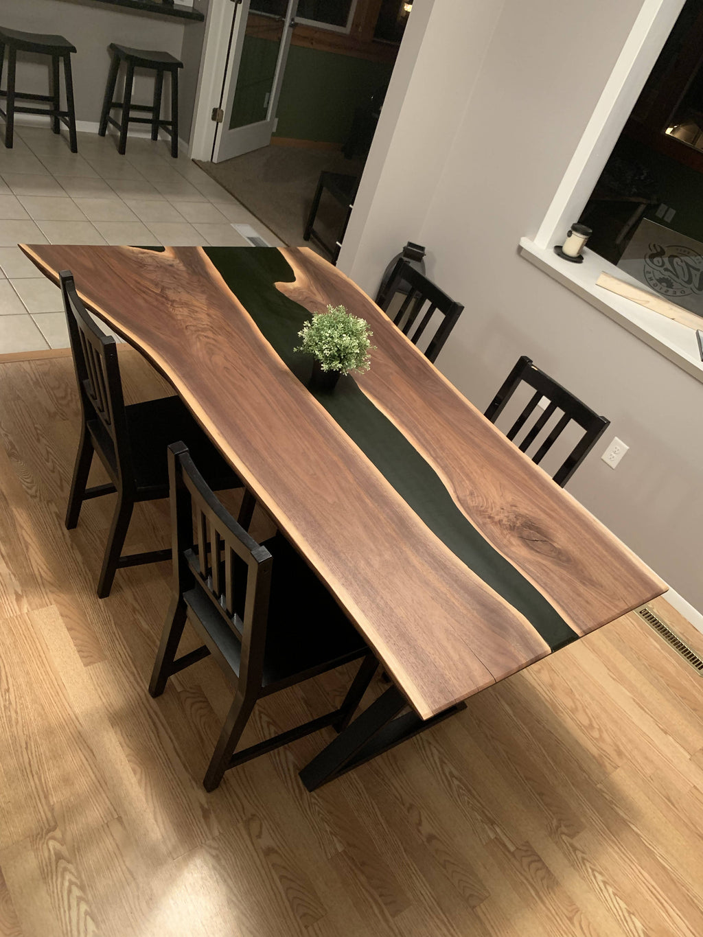 Black Walnut Live Edge Dining Table - Cave Market Artisan Home Goods and Furniture
