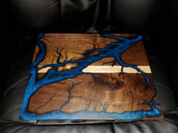 Electric Blue Walnut Charcuterie Board