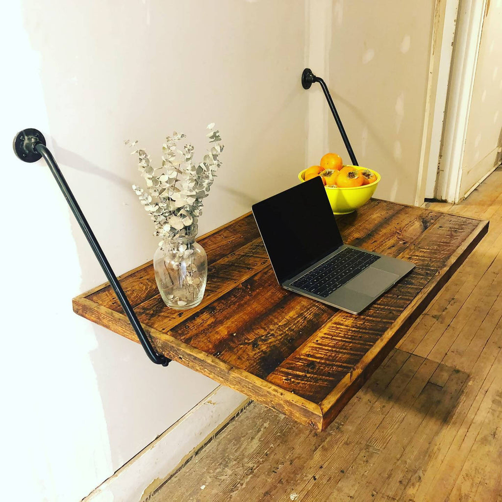 Floating Desk--folds flat for easy storage! - Cave Market Artisan Home Goods and Furniture