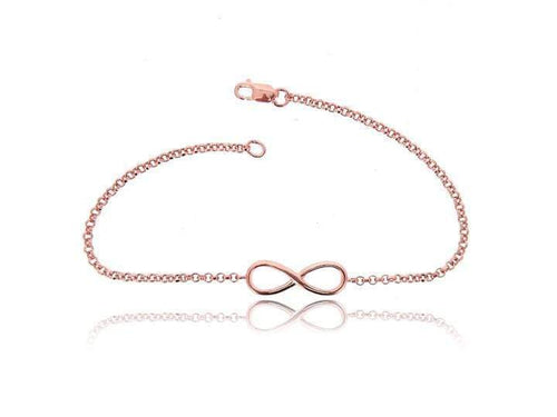 Infinity Vermeil Pink Gold Chain Bracelet